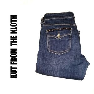 Kut from the Kloth low rise Boot cut Jeans sz 8